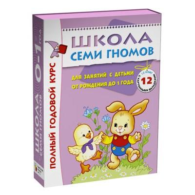 Школа Семи Гномов 0-1 год. Полный годовой курс (12 книг в подарочной упаковке)