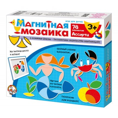 "Мозаика магнитная ""Ассорти"" 78 эл арт.02867"