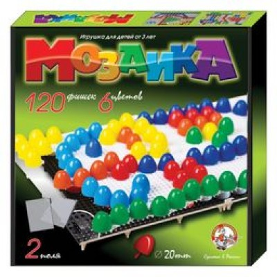 Мозаика d20/6 цв/120 эл/2 поля арт.02001