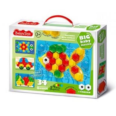 Мозаика для самых маленьких d40/4 цв/34 эл BABY TOYS арт.02516