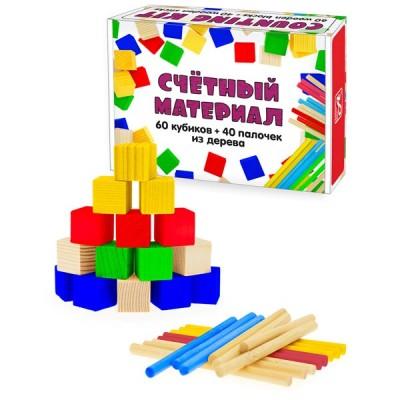 Счетный материал - набор палочек и кубиков Анданте RDI-D013b